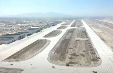 Avances en la construcción del Aeropuerto de Santa Lucía.